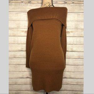 BCBG MaxAzria off the shoulders Sweater Dress Sz S
